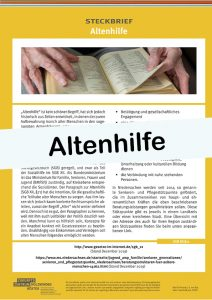 Cover Steckbrief Altenhilfe
