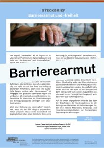 Cover Steckbrief Barrierearmut